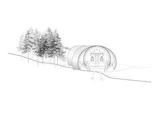 Fassade Süd-West seilbahn weissenstein von guido kummer + partner architekten