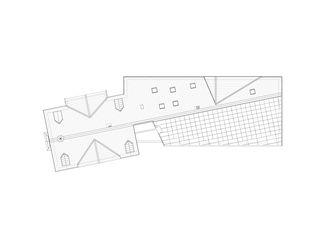 Dachaufsicht 1:200 Erweiterung und Sanierung Wohn- und Pflegeheim Lindenbaum, Zuzwil SG von GFA Gruppe für Architektur GmbH