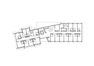 2.OG 1:200 Erweiterung und Sanierung Wohn- und Pflegeheim Lindenbaum, Zuzwil SG von GFA Gruppe für Architektur GmbH