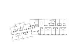 1.OG 1:200 Erweiterung und Sanierung Wohn- und Pflegeheim Lindenbaum, Zuzwil SG von GFA Gruppe für Architektur GmbH