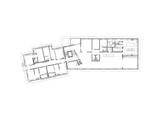 EG 1:200 Erweiterung und Sanierung Wohn- und Pflegeheim Lindenbaum, Zuzwil SG von GFA Gruppe für Architektur GmbH