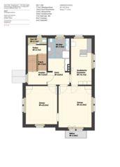 Grundriss Umbau einer Stadtvilla zu 3 Appartementwohnungen  von Eduard Otto Baumann<br/>