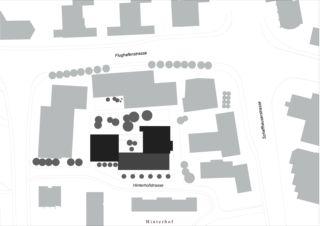 Situation Wohnhaus Eberhard, Areal Wilder Mann Kloten von ADP Architekten AG