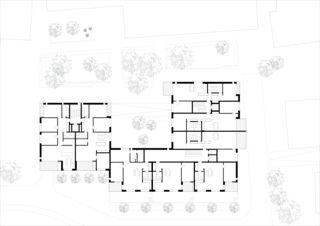 Grundriss Standardgeschoss Wohnhaus Eberhard, Areal Wilder Mann Kloten von ADP Architekten AG