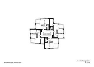 Grundriss Regelgeschoss  Alterswohnungen Im Büel von Schneider & Schneider Architekten ETH BSA SIA AG