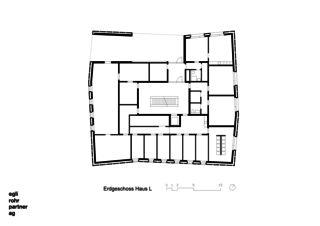 Rez de chaussée Maison L Verdichtung Wohnsiedlung Frankental Zürich-Höngg de ERP Architekten AG
