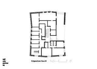 Rez de chaussé Maison M Verdichtung Wohnsiedlung Frankental Zürich-Höngg de ERP Architekten AG