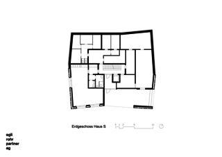 Rez de chaussée Maison S Verdichtung Wohnsiedlung Frankental Zürich-Höngg de ERP Architekten AG