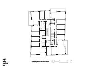 Étage principal Maison M Verdichtung Wohnsiedlung Frankental Zürich-Höngg de ERP Architekten AG