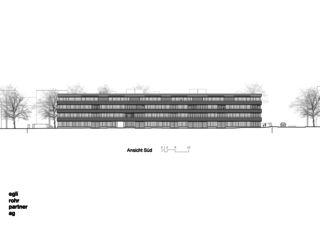 Ansicht Süd Wohnüberbauung Letzihof Zürich von ERP Architekten AG
