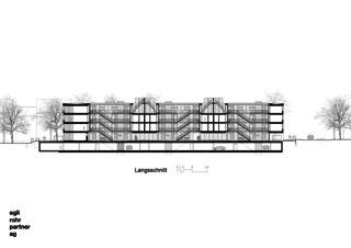 Längsschitt Wohnüberbauung Letzihof Zürich von ERP Architekten AG