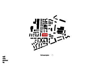 Schwarzplan Wohnüberbauung Letzihof Zürich von ERP Architekten AG