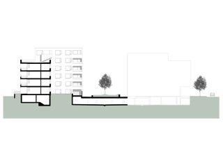 Querschnitt Wohnhaus Eberhard, Areal Wilder Mann Kloten von ADP Architekten AG