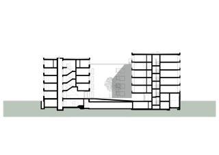 Längsschnitt Wohnhaus Eberhard, Areal Wilder Mann Kloten von ADP Architekten AG