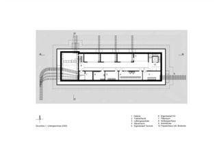 Grundriss 1. UG Netzstützpunkt und Unterwerk Oerlikon de illiz architektur GmbH