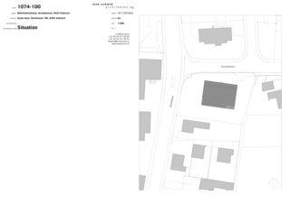 Situation und Schnitt Mehrfamilienhaus, Embrach von rené schmid architekten ag