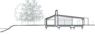 Schnitt Pavillon am See Schmerikon von Raeto Studer Architekten GmbH
