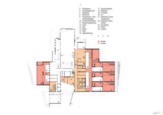 Grundriss EG Erweiterung Schulanlage Steinboden, Eglisau von Architekturbüro<br/>