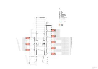Grundriss OG Erweiterung Schulanlage Steinboden, Eglisau von Architekturbüro<br/>