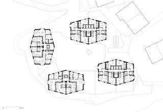 Obergeschoss/Regelgeschoss Hotel Frutt Family Lodge & Melchsee Apartments de architekturwerk ag