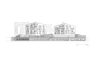 Ansicht Süd von See Hotel Frutt Family Lodge & Melchsee Apartments de architekturwerk ag