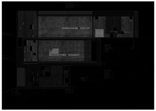 Detailschnitt Betonhaus in Caviano von Studio d'architettura wdmra<br/>