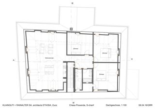 Dachgeschoss Chesa Pravenda S-chanf von Architects ETH/SIA<br/>