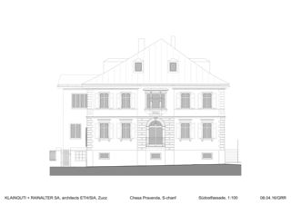 Südostfassade Chesa Pravenda S-chanf von Architects ETH/SIA<br/>