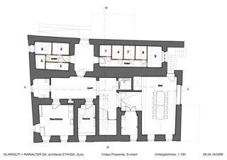 Untergeschoss Chesa Pravenda S-chanf von Architects ETH/SIA<br/>