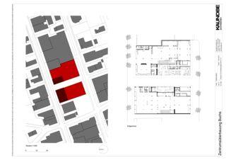 Erdgeschoss 1:500 Zentrumsüberbauung Buchs von Kaundbe Architekten AG