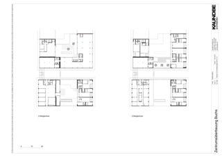 2.+3.Obergeschoss 1:200 Zentrumsüberbauung Buchs von Kaundbe Architekten AG