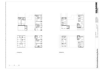 4.Obergeschoss+Attikageschoss 1:500 Zentrumsüberbauung Buchs von Kaundbe Architekten AG