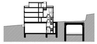 Coupe Erweiterung Schulhaus Kreuzbühl de Fischer Architekten AG
