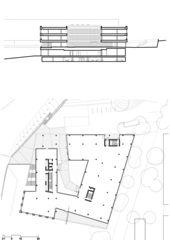 Rez et coupe Terrasses von Atelier Cube SA