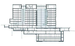 Schnitt Erweiterung Credit Suisse Uetlihof von Stücheli Architekten