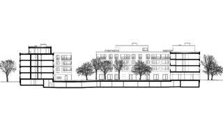 Schnitt Wohnüberbauung Siebenmättli Aarau-Rohr von Egli Rohr Partner AG Architekten BSA SIA
