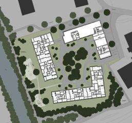 Situation und Umgebung Wohnüberbauung Siebenmättli Aarau-Rohr von Egli Rohr Partner AG Architekten BSA SIA