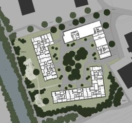 Situation et environs Wohnüberbauung Siebenmättli Aarau-Rohr de Egli Rohr Partner AG Architekten BSA SIA