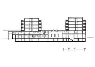 Coupe laterale Giesserei de Galli Rudolf Architekten AG ETH BSA