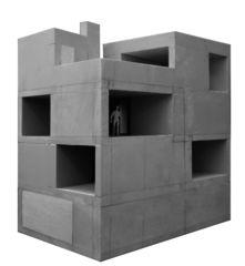 Arbeitsmodell Wohn- und Atelierhaus Mühlestrasse von Dipl. Architekten ETH SIA OTIA<br/>