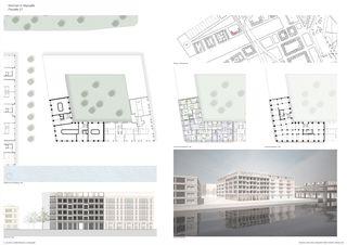 Seite 1 von 4; Format Din A0; quer (reduzierte Dateigrösse) Bâtiment d'habitation à Marseille von