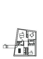 Grundriss EG Wohn- und Atelierhaus Mühlestrasse von Dipl. Architekten ETH SIA OTIA<br/>