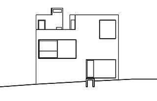 Westansicht Wohn- und Atelierhaus Mühlestrasse von Dipl. Architekten ETH SIA OTIA<br/>