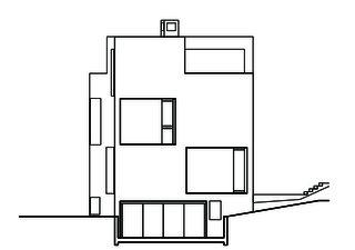 Nordansicht Wohn- und Atelierhaus Mühlestrasse von Dipl. Architekten ETH SIA OTIA<br/>