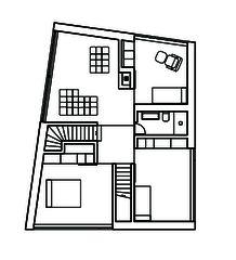 Grundriss OG Wohn- und Atelierhaus Mühlestrasse von Dipl. Architekten ETH SIA OTIA<br/>