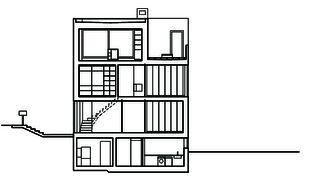 Schnitt Wohn- und Atelierhaus Mühlestrasse von Dipl. Architekten ETH SIA OTIA<br/>