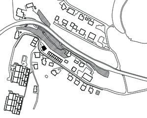 Situation 1:300 Wohn- und Atelierhaus Mühlestrasse von Dipl. Architekten ETH SIA OTIA<br/>