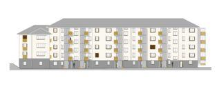 Ostfassade 1:50  Fassadensanierung Liegenschaften Küttigerstrasse und Aarestrasse in Aarau von Andreas Marti & Partner Architekten AG