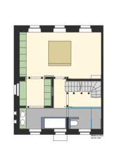 Obergeschoss Schlafen Arbeiterhaus in Einfamilienhaus von Eduard Otto Baumann<br/>