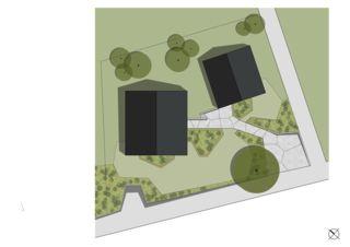 Umgebungsplan  Wohnensemble in Erlenbach  von wild bär heule architekten ag
